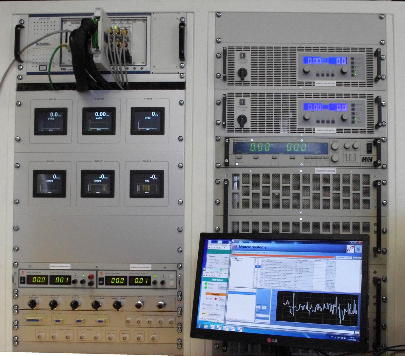 Simulation-banc-HIL-PHIL-EGSE-ECU-spatial-automobile-DAM-Group