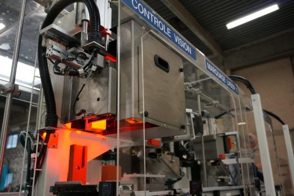 3_DAM Group Test Module boite de vitesse ligne automatisée production marquage controle vision
